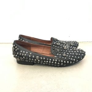 Jeffrey Campbell Elegant Studded Leather Loafers